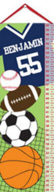 Sports Themed Personalized Growth Chart