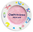 Charms Ceramic Birth Plate for Girls