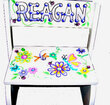 Bright Flowers Personalized Flip Step-Stool