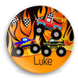 Monster Truck Personalized Plate