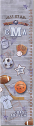 Sports All-Star Personalized Growth Chart