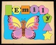 Butterfly Personalized Puzzle (1-8 Letters)