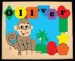 Personalized Monkey Puzzle Board
