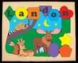 Forest Animals Personalized Puzzle (1-10 Letters)